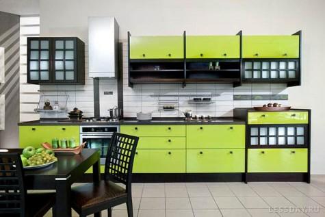 Зеленая кухня, фото и дизайн интерьера кухни в зеленых тонах