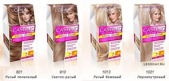 Безаммиачная краска для волос лореаль-палитра
