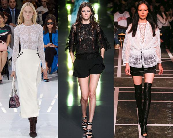 Фасоны модных блузок 2015