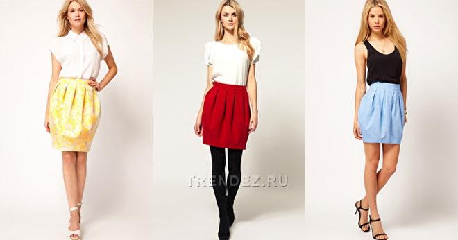 как пошить летнюю юбку модную в 2012: