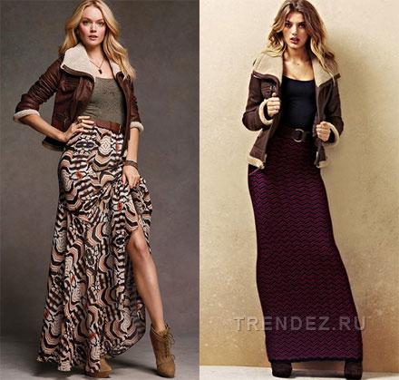 длинные вязаные юбки схемы