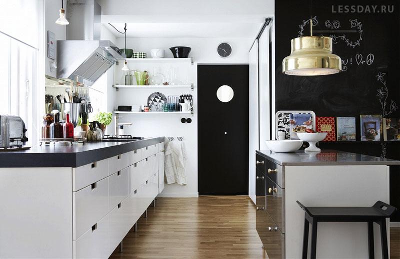 Черная кухонная мебель