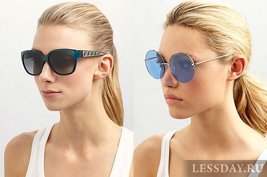очки солнцезащитные женские круглые фото