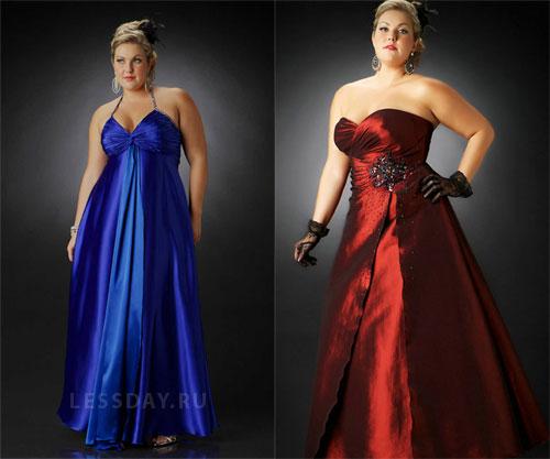 Вечерние платья для полненьких девушек