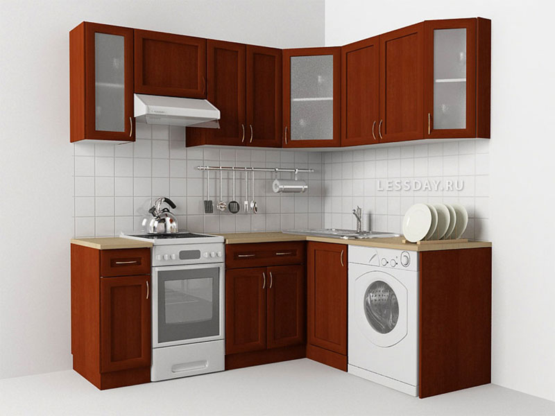 Фото 4.4 - Кухня в хрущевке, трехмерное изображение