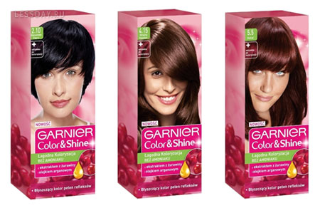 Garnier color shine русый