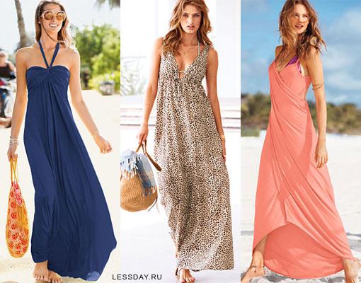 Модные летние сарафаны 2014: фото пляжных платьев для жаркого лета