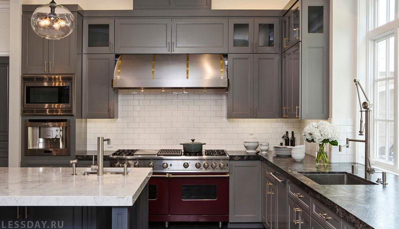 Шторы для серой кухни