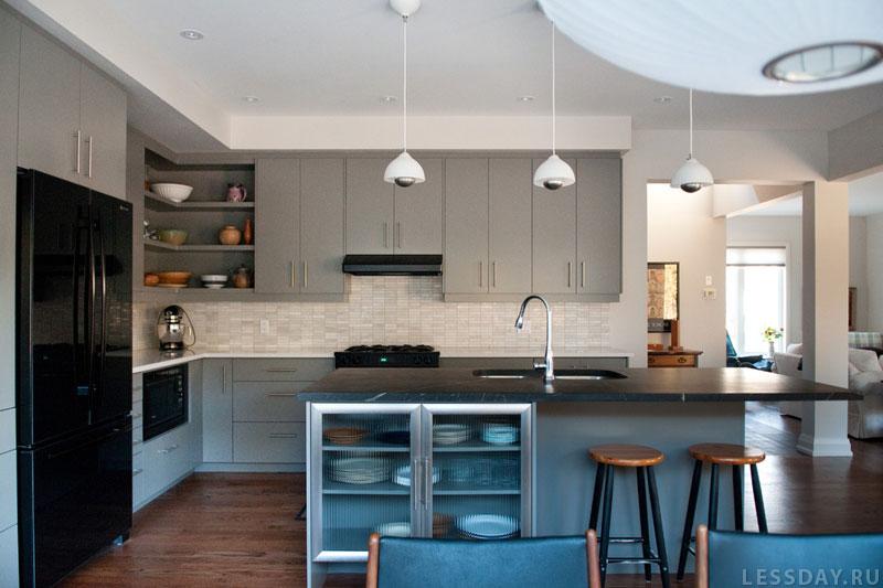 Квадратная кухня 12 кв.м дизайн