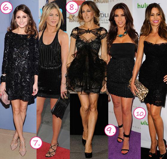 Знаменитости в платье черном