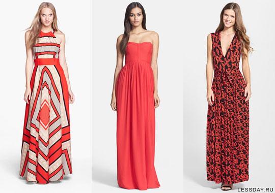 Длинные платья на лето 2015