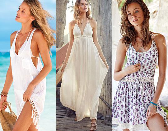 Фото: пляжные модели от модного и популярного бренда Victoria's Secret