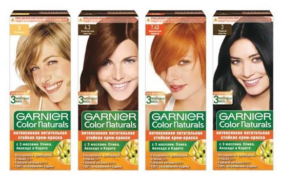 Цвет волос палитра garnier
