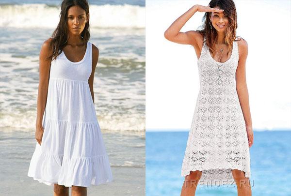 Белое летнее платье своими руками 61