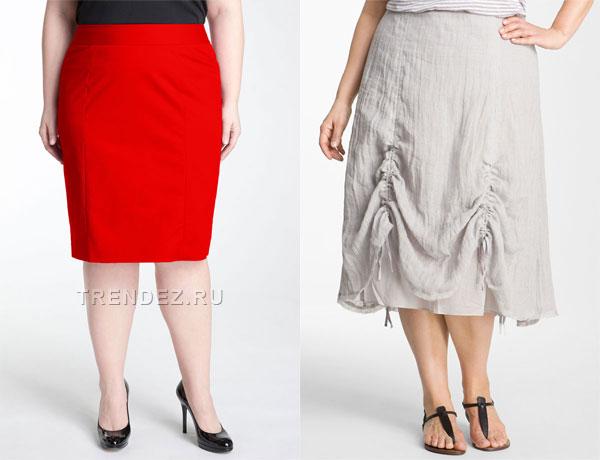 Фото красная юбка карандаш и белая